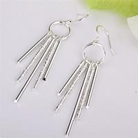 Leanne Princess Silver Drop Earrings
