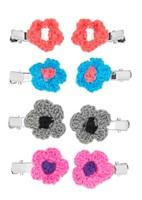 Crochet Flower Hair Clip Set