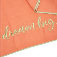 SUMMER AND ROSE YOGA TOWEL: DREAM BIG (CORAL)