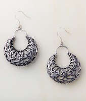 Starfish Project- Nadia Wide Silver Hoop Filigree Earrings