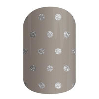 Jamberry Nail Wraps Icy Taupe Polka Dot